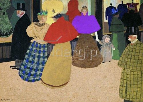 Felix Vallotton: Les Passants, 1895