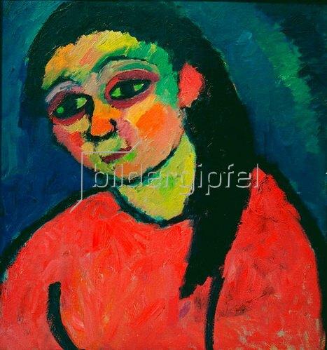Alexej von Jawlensky: Frau mit roter Bluse, 1911