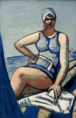 Max Beckmann: Quappi in Blau im Boot