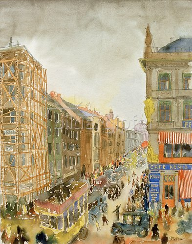 Carl Grossberg: Straße in Berlin, 1926