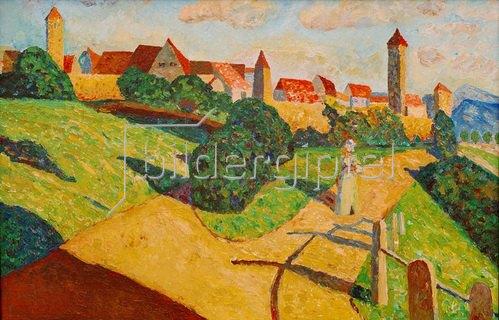 Wassily Kandinsky: Alte Stadt II (Rothenburg ob der Tauber)