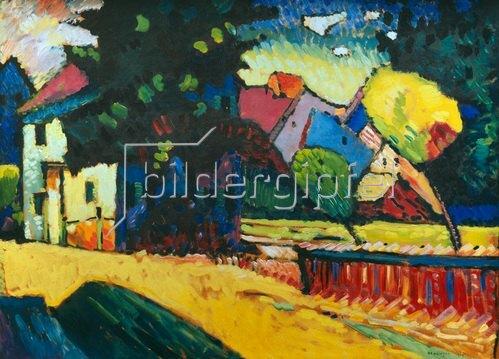 Wassily Kandinsky: Murnau, Landschaft mit grünem Haus