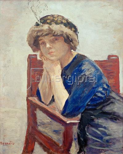Pierre Bonnard: Frau mit Reiherfeder