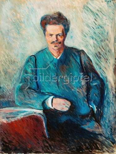 Edvard Munch: Edvard Munch, Strindberg, August schwed. Schriftsteller 1892Öl auf Leinwand, 120 × 90 cm