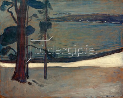 Edvard Munch: Vinter ved Nordstrand (Winter in Nordstrand), um 1900/03