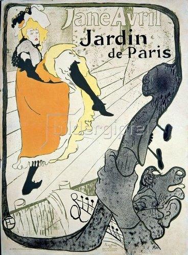 Henri de Toulouse-Lautrec: Jane Avril / Plakat/1893