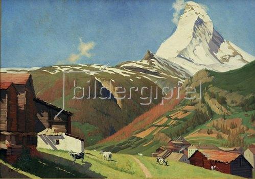 Felix Vallotton: Aussicht von Zermatt, 1889.