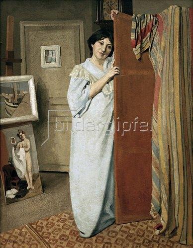 Felix Vallotton: Die Frau des Künstlers in dessen Atelier, 1902.