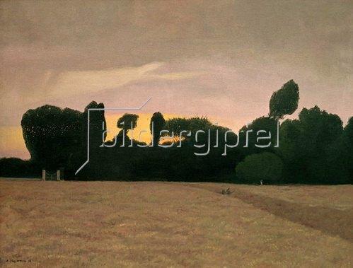 Felix Vallotton: Landschaft in der Normandie bei Abendlicht, 1911