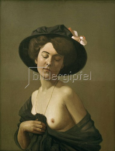 Felix Vallotton: Frau mit schwarzem Hut, 1908