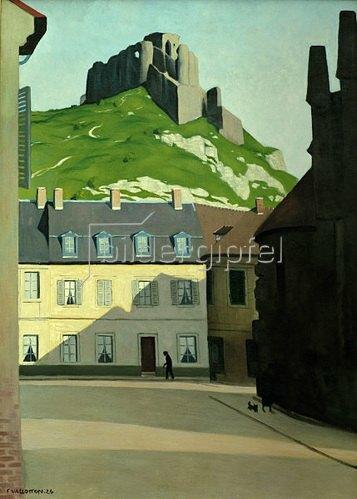 Platz in Les Andelys mit dem Chateau-Gaillard von Felix Vallotton ...