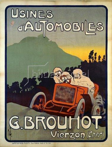 Werbung für Automobil Brouhot