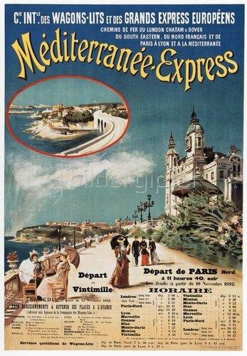Eisenbahn, Mediterranée-Express / Plakat 1892