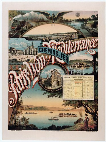 Eisenbahn, Paris – Lyon – Mediterranée / Plakat 1892