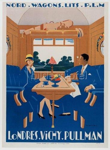 Eisenbahn, Londres-Vichy-Pullman / Plakat 1927