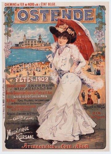 Seebad Ostende, Belgien / Werbeplakat 1902