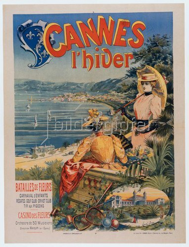 Winter in Cannes / Plakat 1892