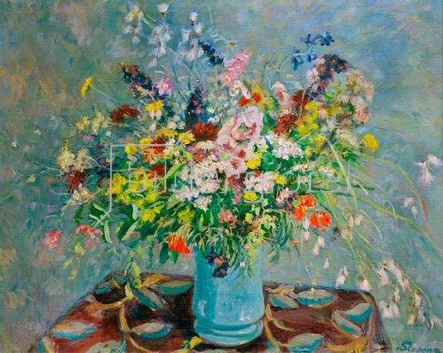 Maria Slavona: Feldblumenstrauß, um 1900