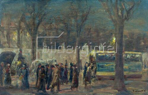 Max Liebermann: Straßenszene am Brandenburger Tor (Abend am Brandenburg..)