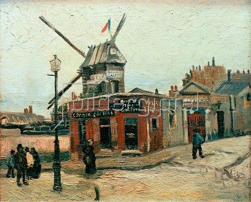 Vincent van Gogh: Die Mühle Le Radet an der Rue Lepic (Le Moulin de la Galette), Paris,1886.