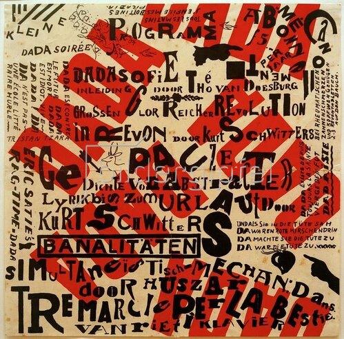 Kurt Schwitters: Dada-Soirée Poster, 1922.