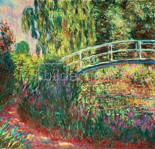 Claude Monet: Japanische Brücke im Garten von Giverney, 1900