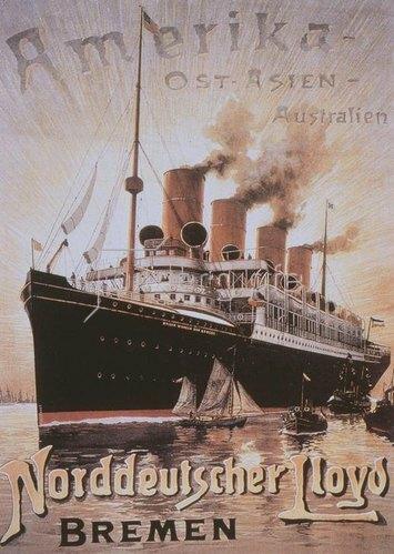 """Dampfer """"Kaiser Wilhelm der Große"""", Stapellauf 1897"""