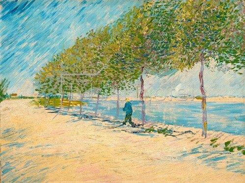 Vincent van Gogh: Spaziergang am Ufer der Seine bei Asnières, Frühling 1887