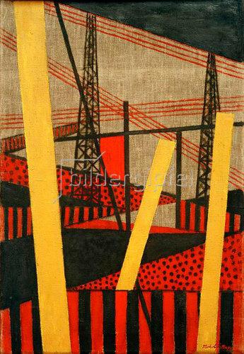 László Moholy-Nagy: Radio und Eisenbahnlandschaft