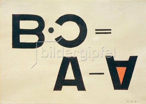 László Moholy-Nagy: Ohne Titel (Typo Collage)
