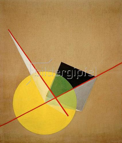 László Moholy-Nagy: Yellow circle, 1921