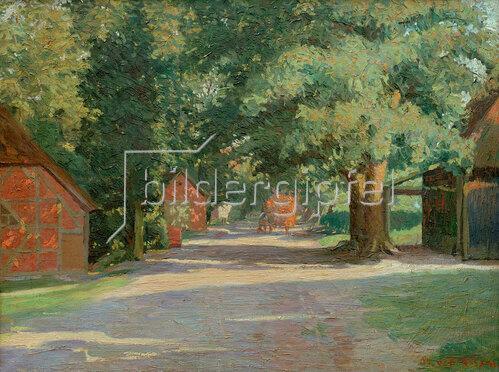 Walter Rosam: Sommerliche Dorfstraße, 1904
