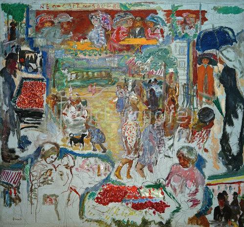 Pierre Bonnard: Große Dekoration, Straßenszene