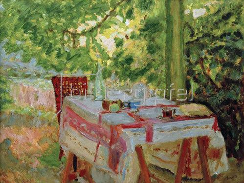 Pierre Bonnard: Der gedeckte Tisch unter der Linde