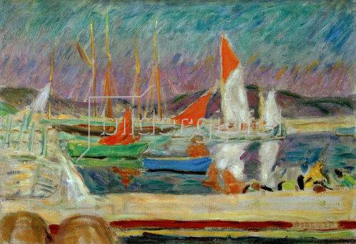 Pierre Bonnard: Segelboote im Hafen von Saint-Tropez