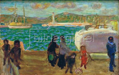 Pierre Bonnard: Der Golf im Dunst, Himmel bei Mistral
