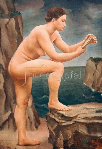 Ubaldo Oppi: Studio per giovane donna al mare (Stehender Akt), 1926