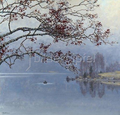 Gustav Fjaestad: Herbststimmung am See.