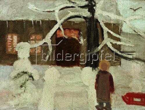 Paula Modersohn-Becker: Junge im Schnee, 1905