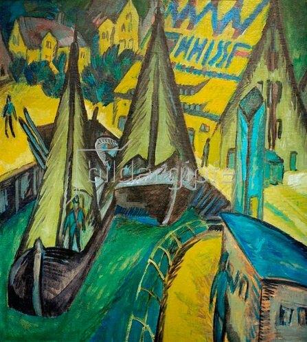 Ernst Ludwig Kirchner: Hafen von Burgstaaken 1913