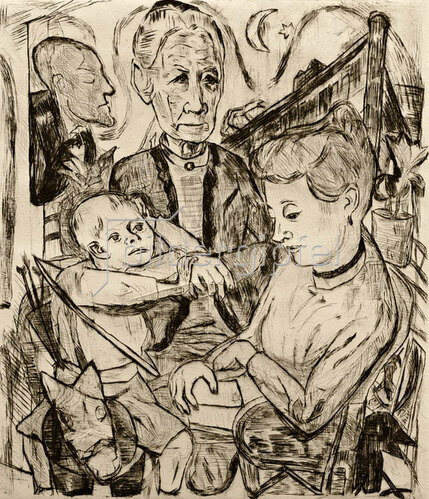 Max Beckmann: Familienszene