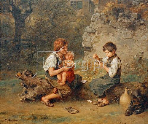Ludwig Knaus: Kartenspielende Schusterjungen, 1861