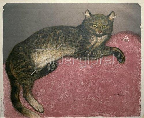 Théophile-Alexandre Steinlen: Ausgestreckte Katze
