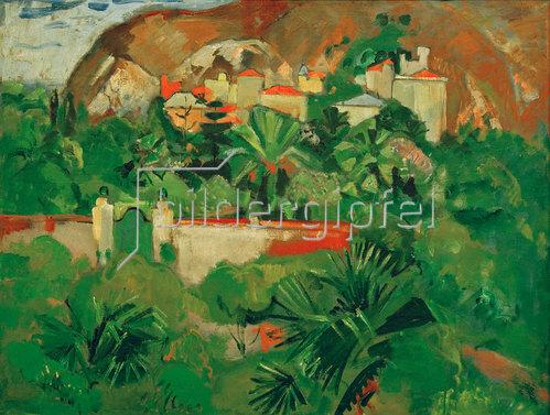Oskar Moll: Italienische Landschaft mit Tor, Levanto