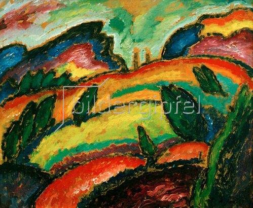 Alexej von Jawlensky: Hügel, 1912