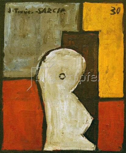 Joaquin Torres-Garcia: Estructura con forma abstracta (Abstract Form), 1930