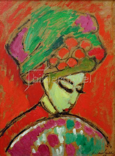 Alexej von Jawlensky: Girl with flower hat, 1910