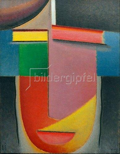 Alexej von Jawlensky: Abstrakter Kopf: Herbstlicher Klang, 1928