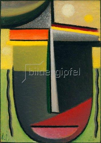 Alexej von Jawlensky: Abstrakter Kopf: Inneres Schauen Grün - Gold', 1926, N.118