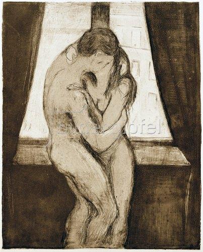 Edvard Munch: Der Kuß, 1895